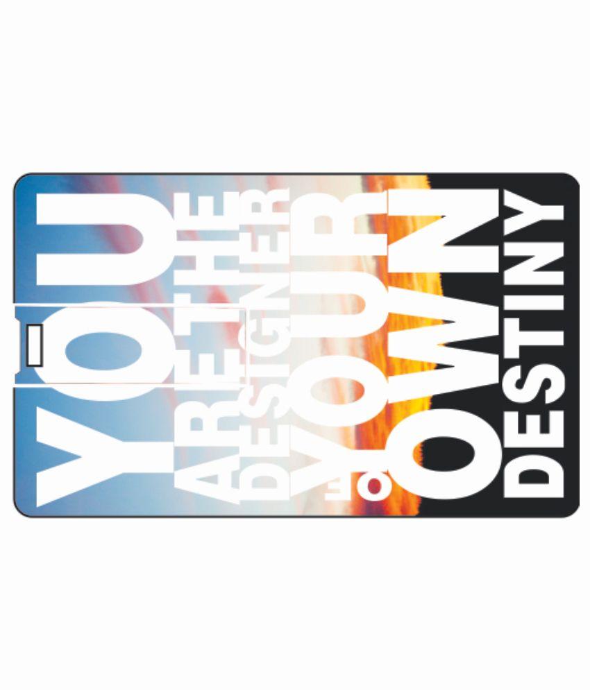 Printland Own Destiny 4 GB Card 4 GB Pen DrivesMulticolor