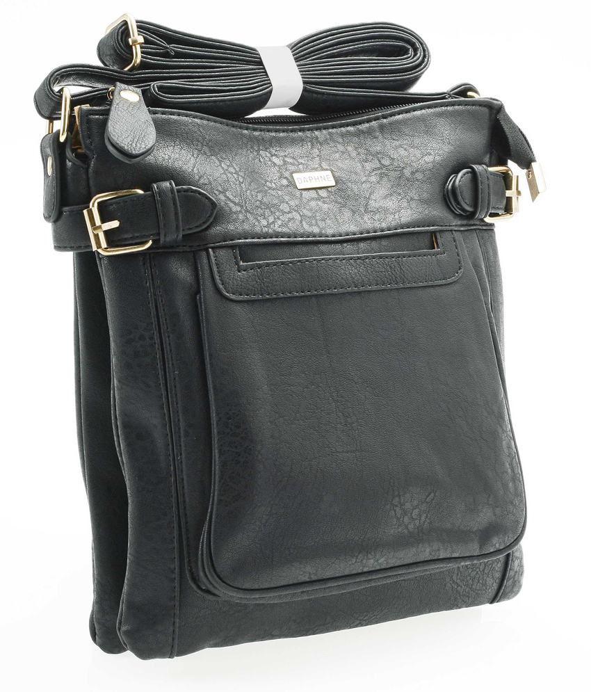 Daphne DP14-0062BK Black Sling Bags