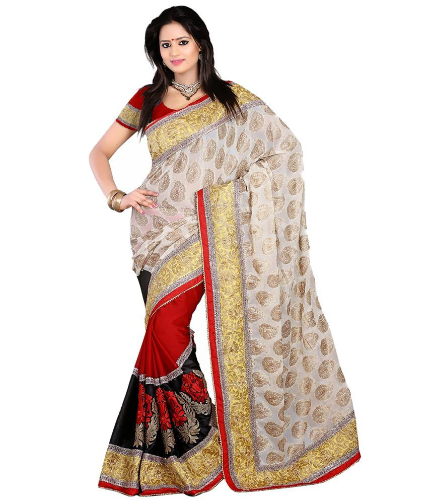 Fashion Founder Red Viscose Saree Buy Fashion Founder Red Viscose Saree Online At Low Price