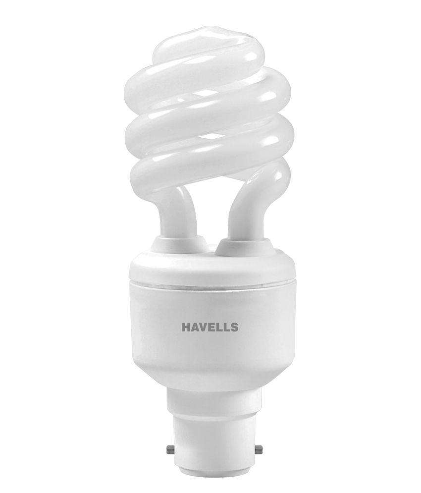 Havells White Glass Cfl Spiral 15 W ( 2 Pcs )