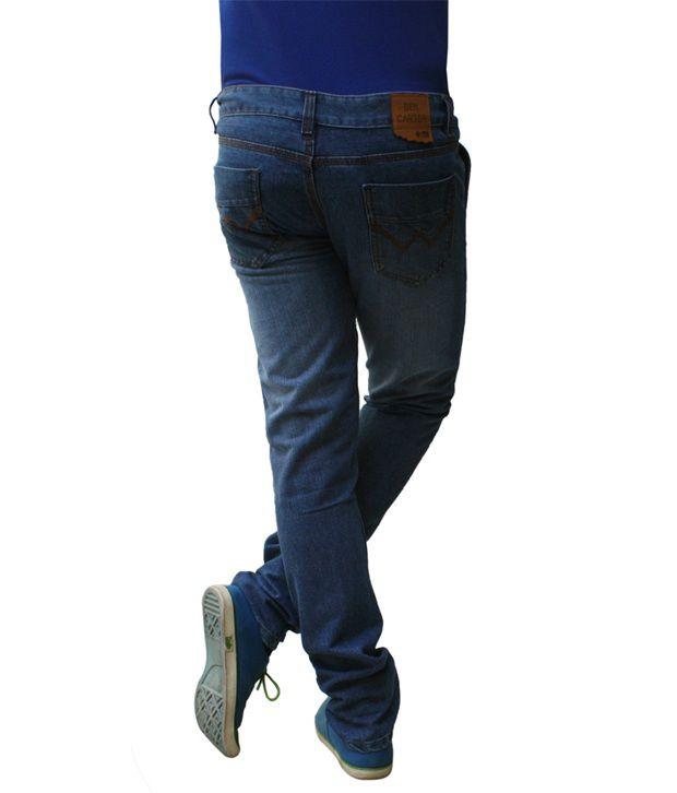 Ben Carter Men's Light Persian Blue Slim Fit Denim Jeans (wp)
