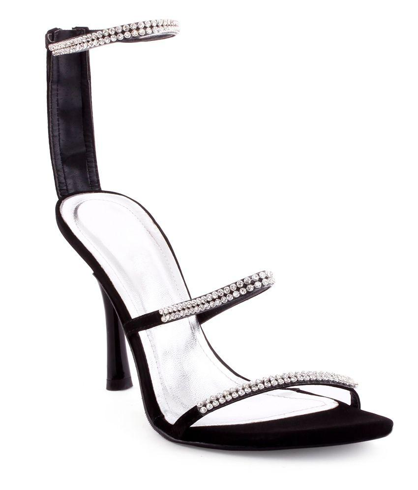 TSG Black Stiletto Sandals