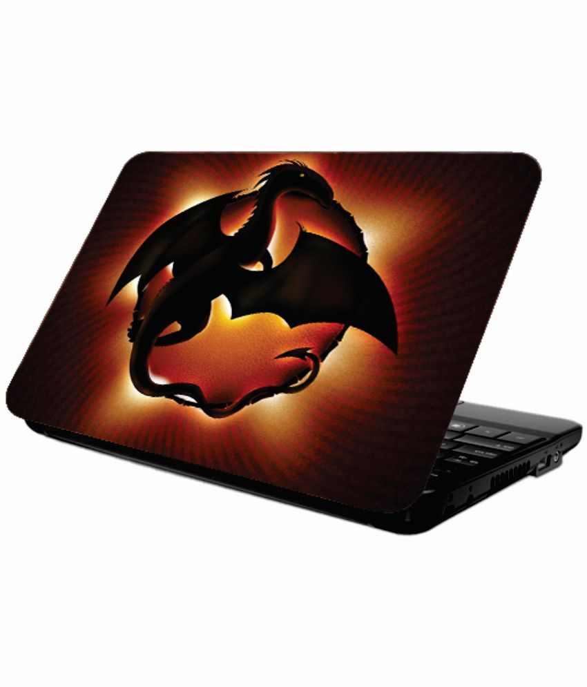 Printland Coloured 13 X 9 Inches Brown Laptop Skin Cover