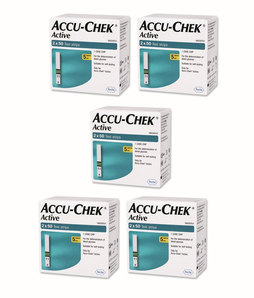 accu chek guide strips india