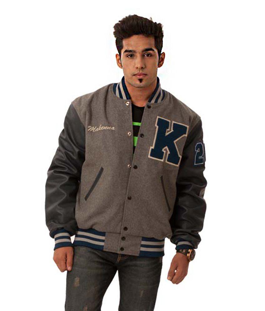 Caliber Gray India Baseball Varsity Jacket - Buy Caliber Gray
