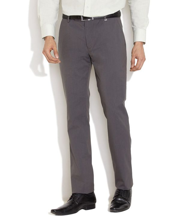 Indigo Nation Natural Pin-Striped Flat-Front Trousers