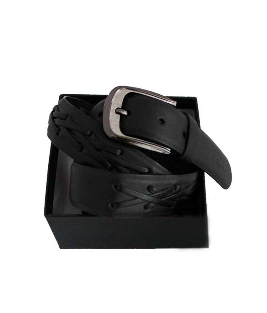Rigado Cross Stitch Formal Genuine Leather Belt
