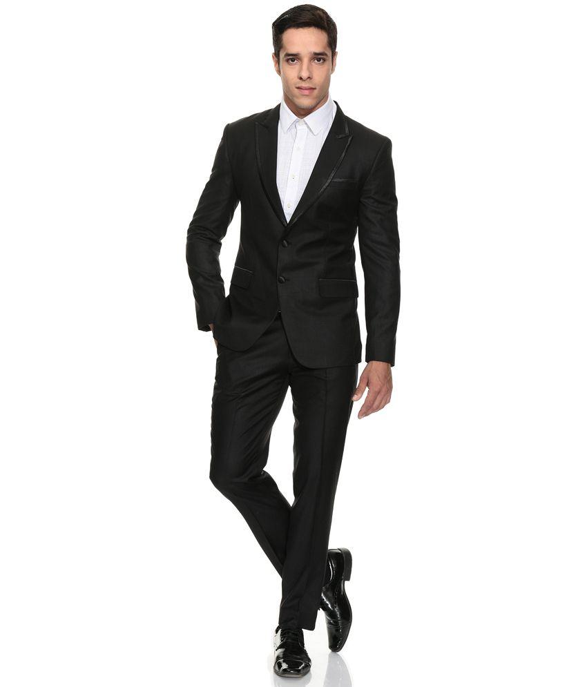 The Design Factory Men Black Suits