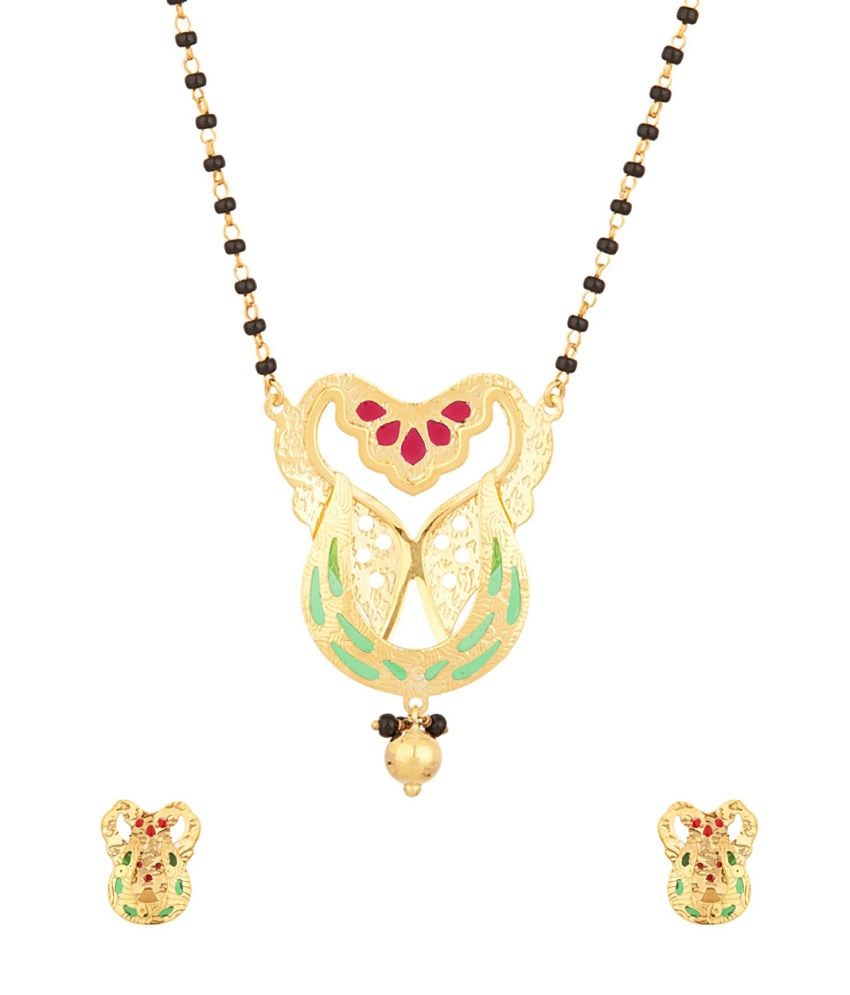 Voylla Mangalsutra With U Shaped Pendant