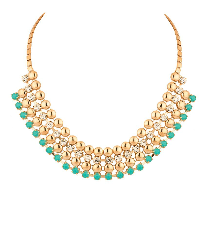 Voylla Statement Necklace With Colorful Stones
