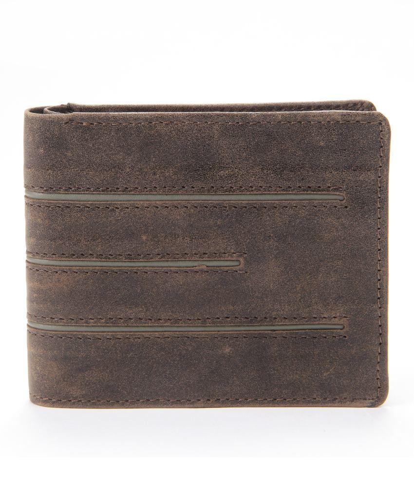 WalletsnBags Leather Brown Men Regular Wallet