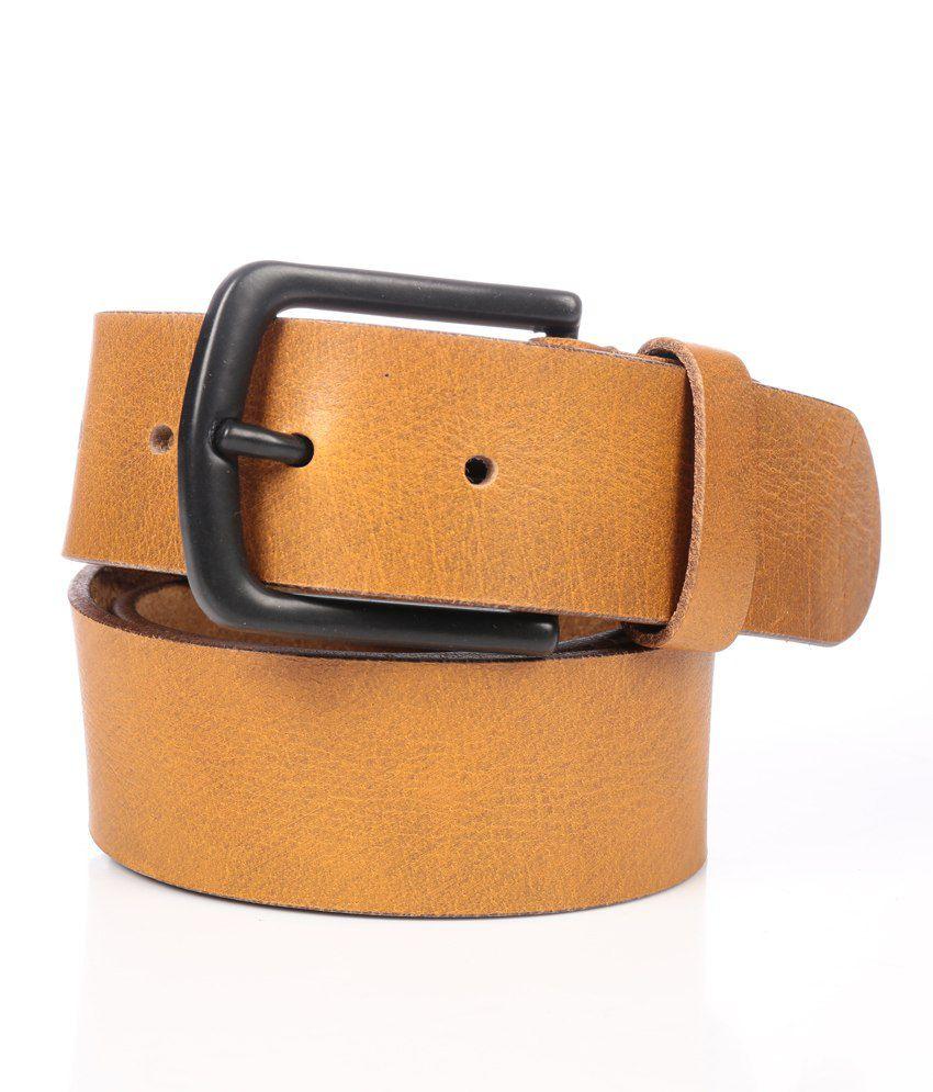 WalletsnBags Yellow Casual Single Belt ForMen