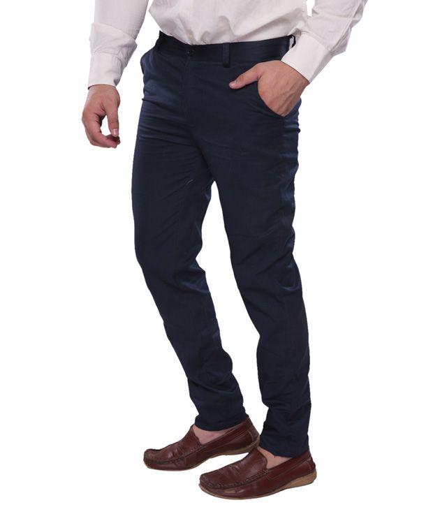 Amaira- Navy Blue Chino Trousers