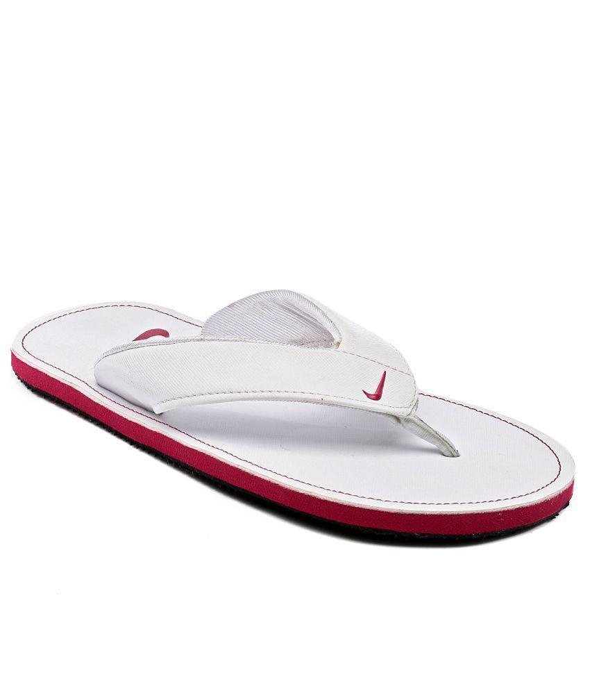 premium selection 29190 57eb6 Nike White Slippers