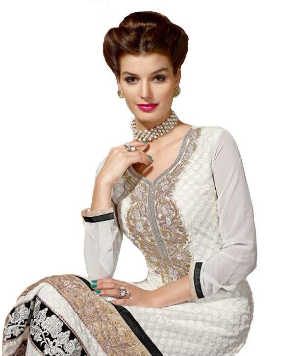 82c0f89945 Siya Fashions White Designer Suit - Buy Siya Fashions White Designer ...