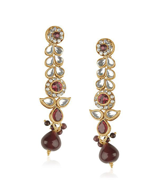 Vk Jewels Long Hanging Earring Set