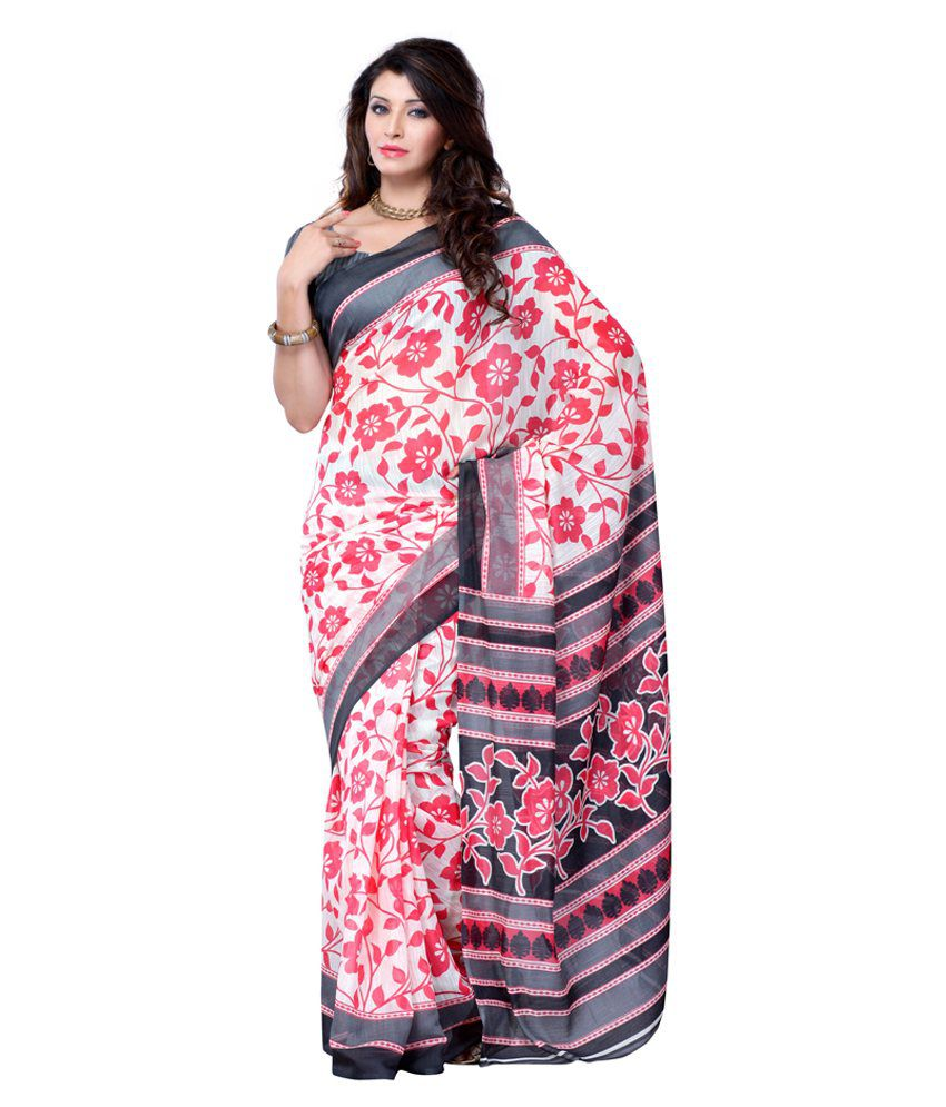 Diva Fashion Multi Color Art Silk Saree Buy Diva Fashion
