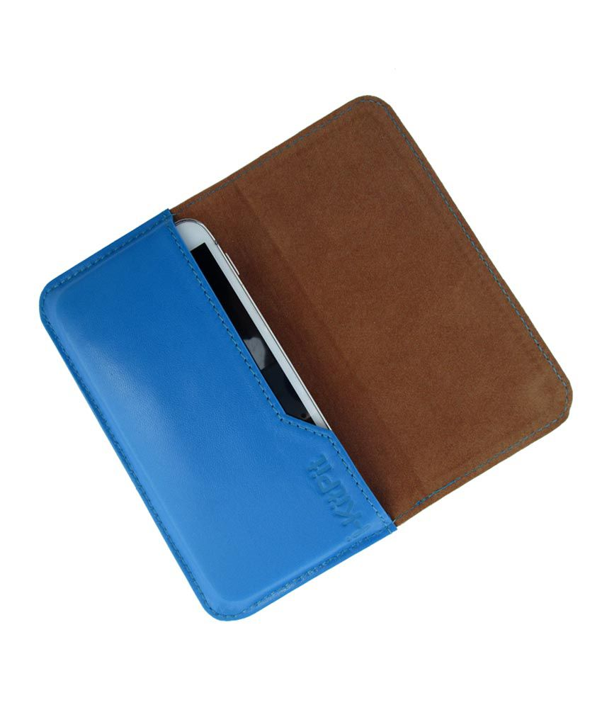 Ikitpit Genuine Leather Flip Pouch Case Cover For Micromax Bolt A34