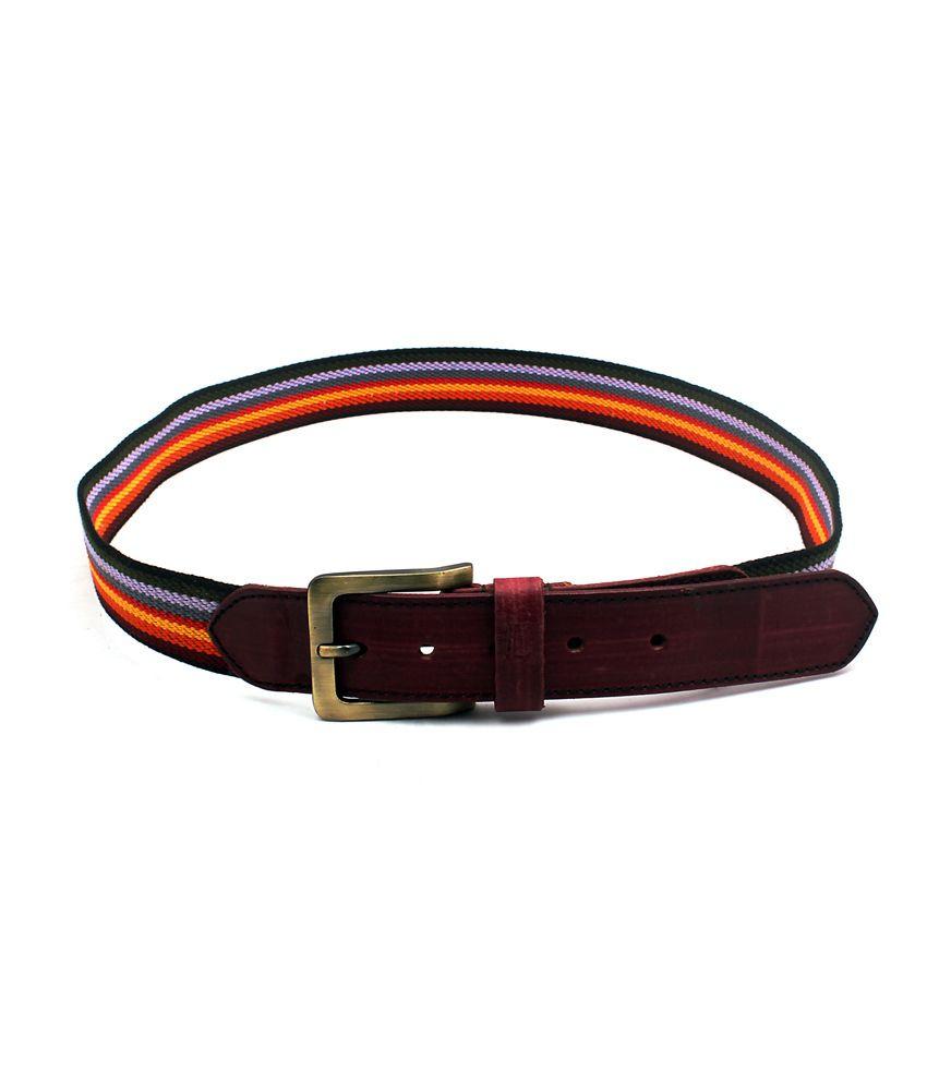 Ligans Ny Multi Colour Casual Single Belt For Men