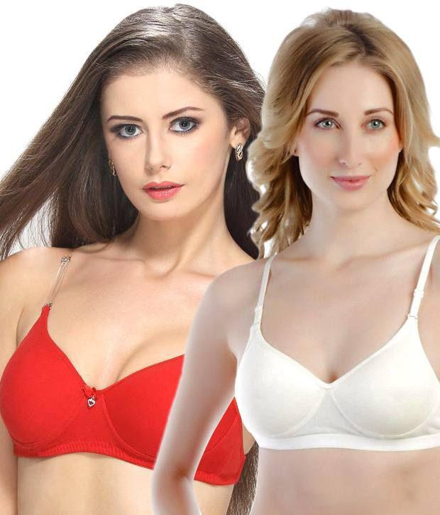buy tweens multi color poly cotton padded bra pack of 2