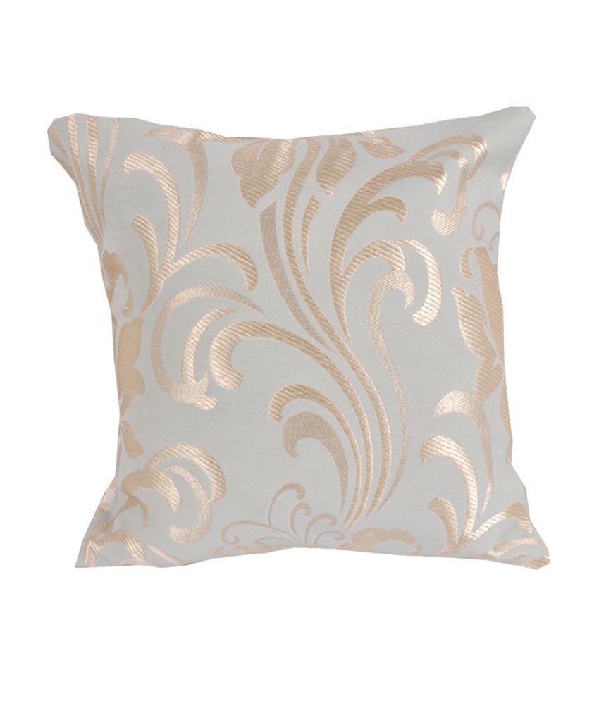 Vareesha Gray Contemporary Blends Cushion Cover