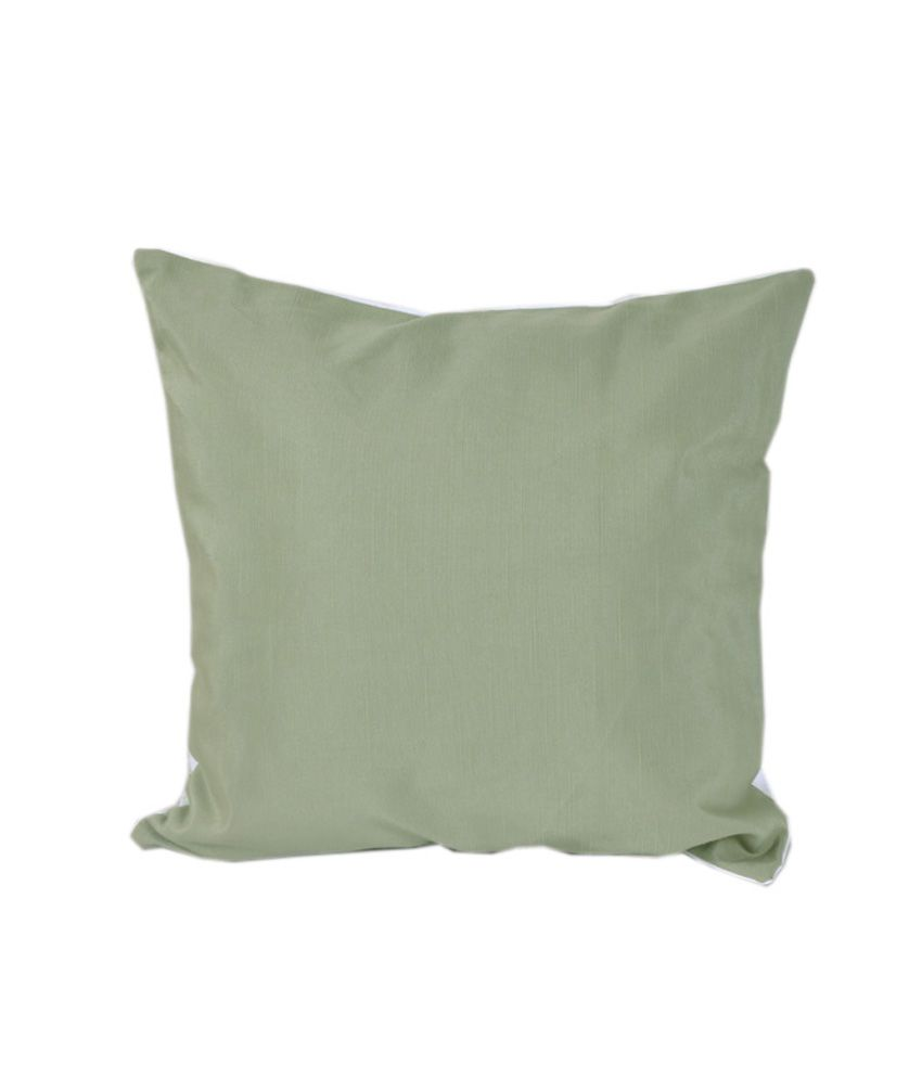 Vareesha Green Plain Blends Cushion Cover