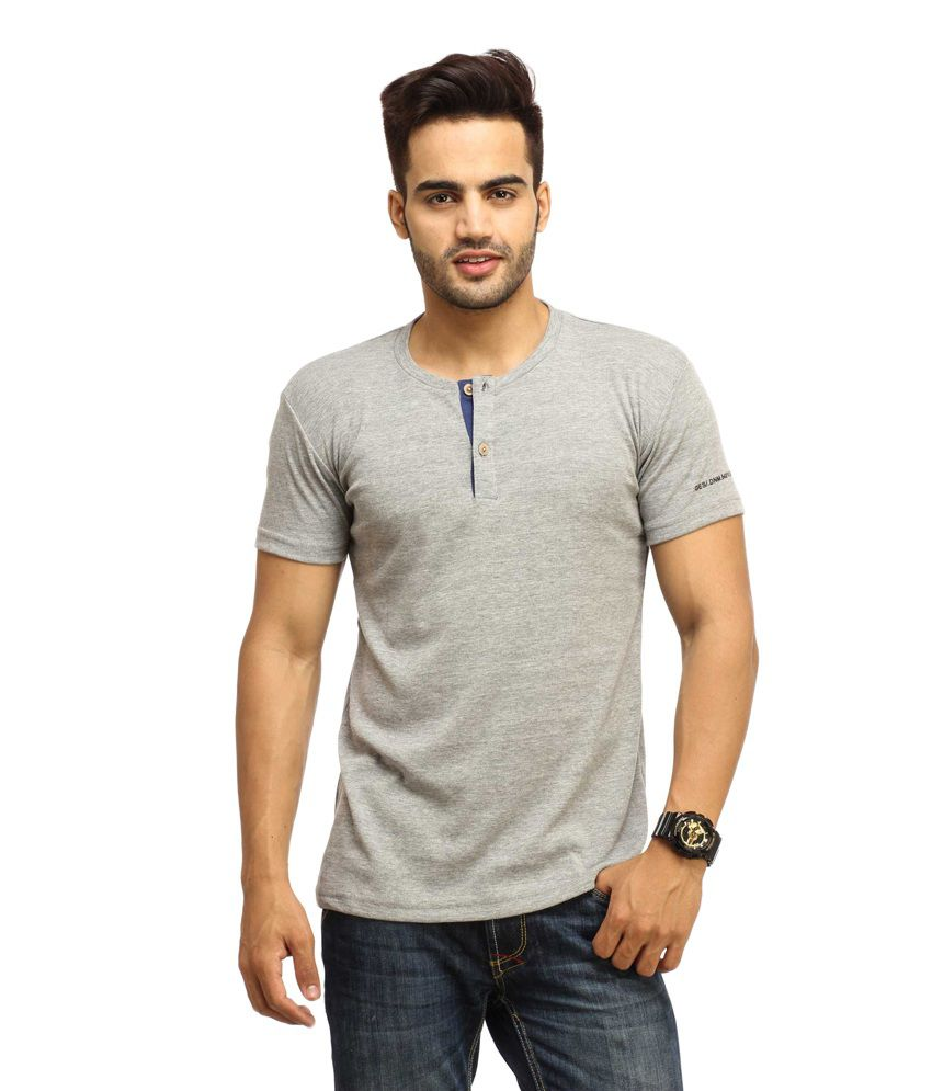 Gesture Gray Cotton T-shirt