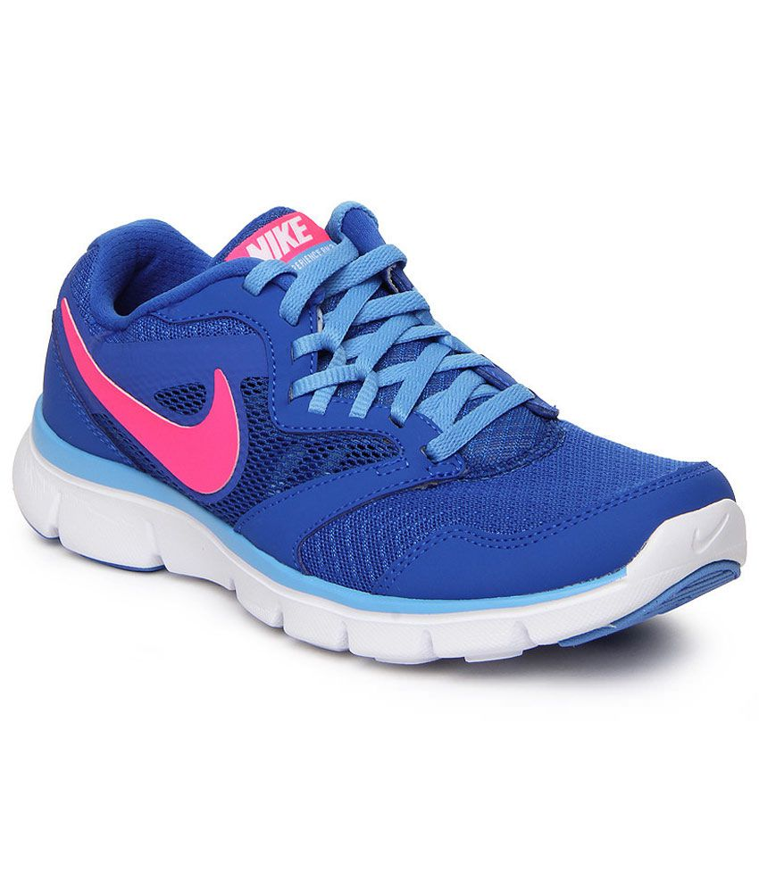 Nike Blue Mesh/textile Running Women Sports Shoes Price in