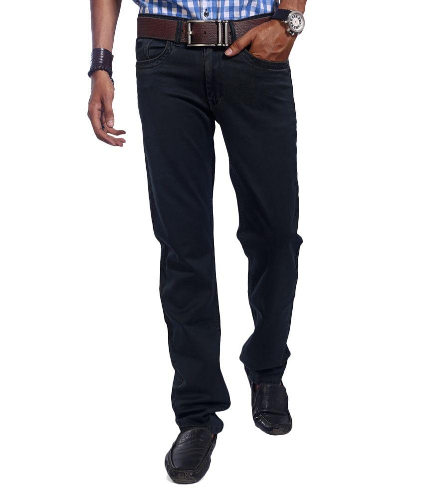 Urban Navy Black Regular Jeans
