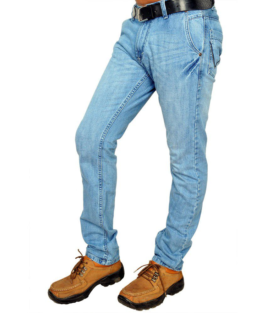 Wrangler Non Stretchable Blue Jeans