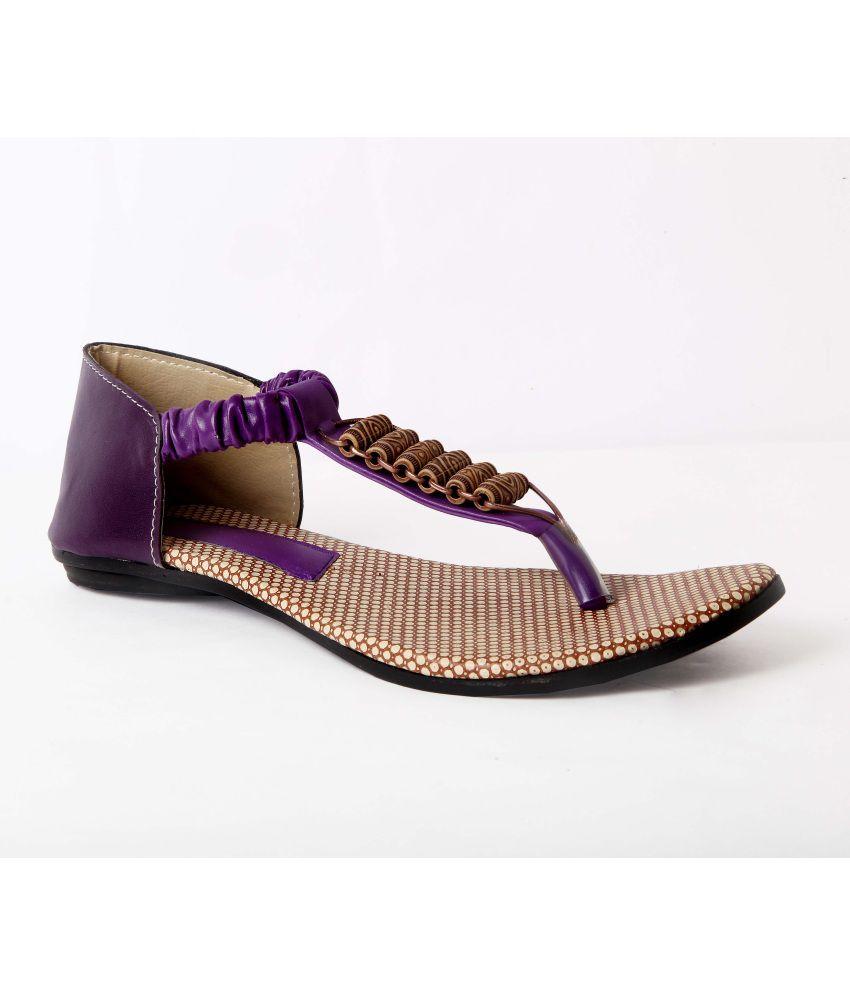 Blue Bees Purple Sandal