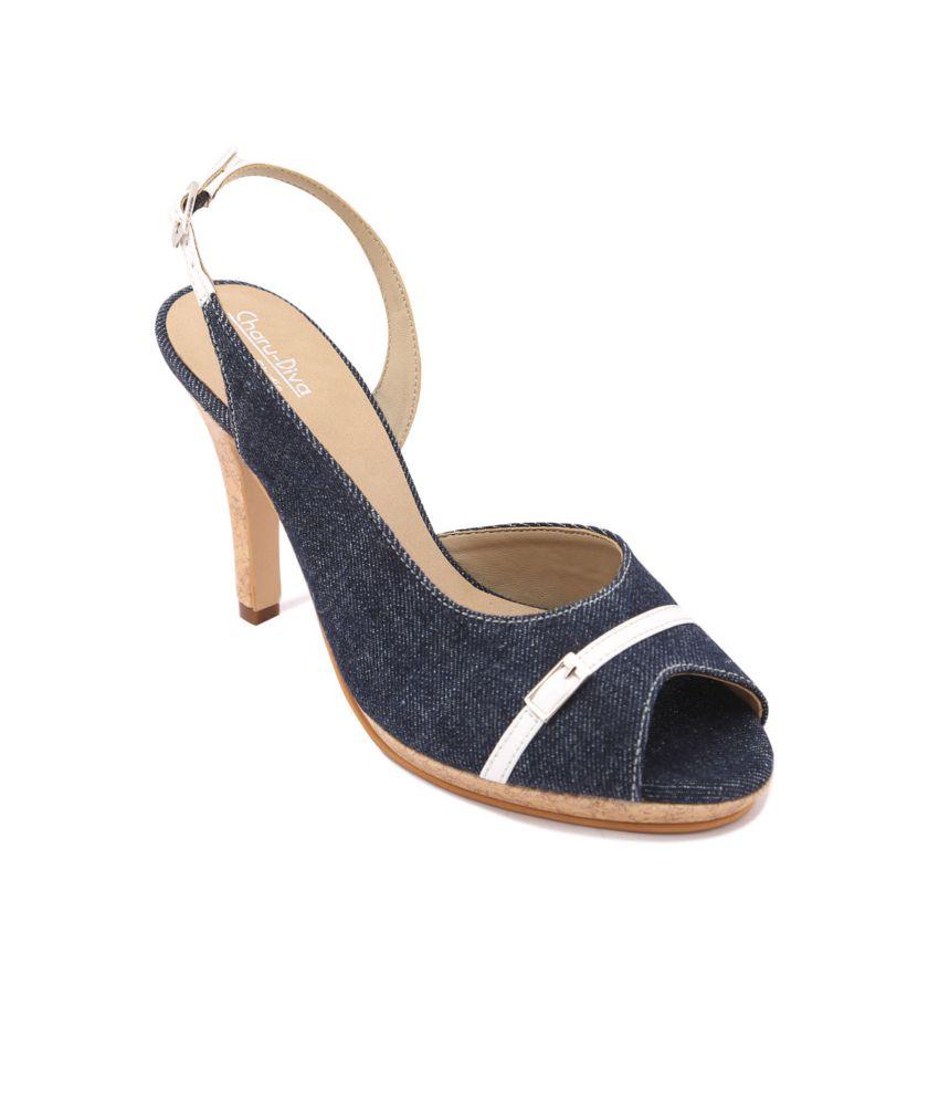 Charu- Diva Design Studio Blue Stiletto Sandals