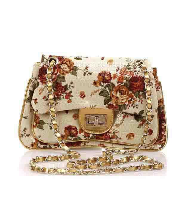 Ella Bags Floral Sequin Clutch  Multi