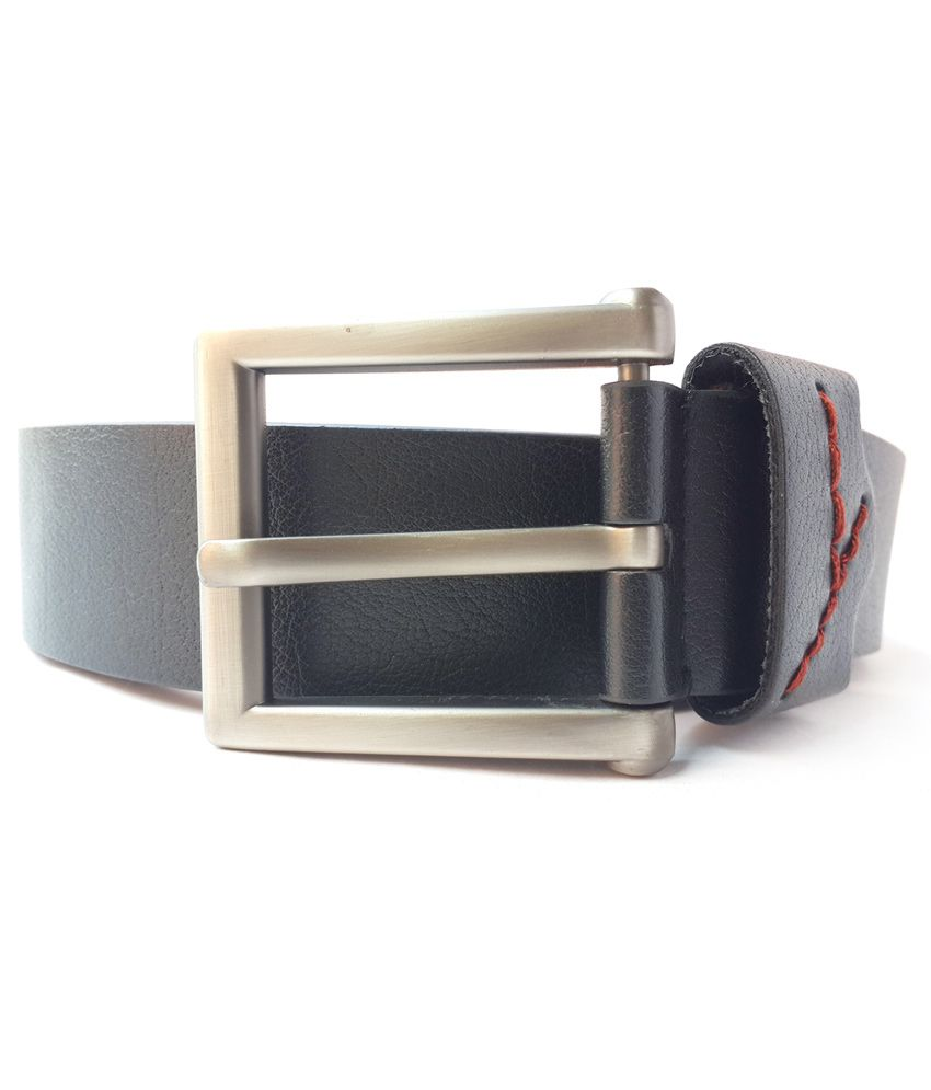 Generic Black Color Textured Belt For Men