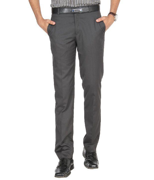 Greenfibre Gray Formal Slim Fit Shirt