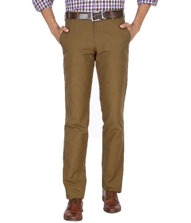 Jadeblue Khaki Formal Slim Fit Shirt