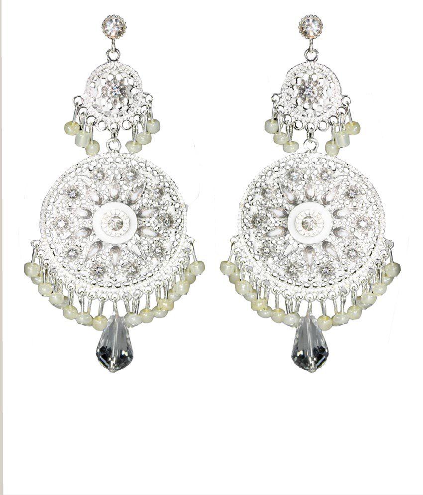 Moda Desire Trendy White Chandelier Earrings