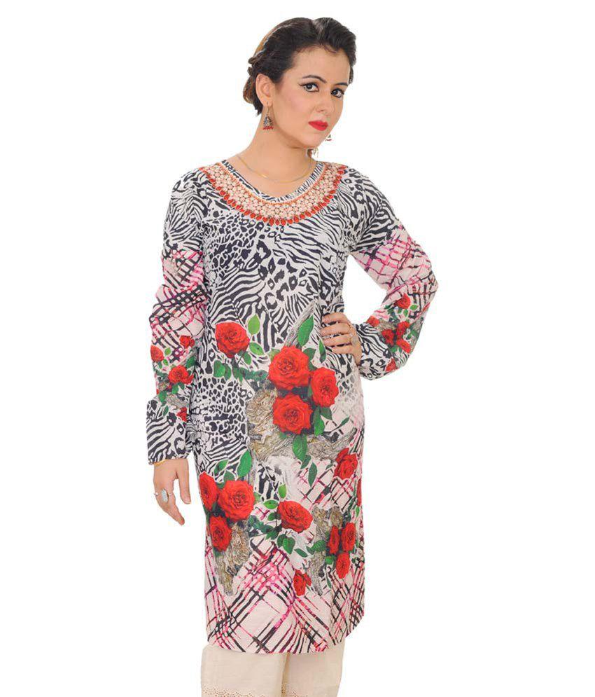 Shakti Multi Color Cotton Semi Stitched Dress Material