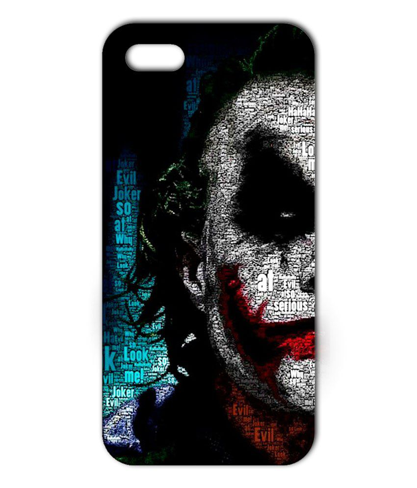 designer iphone case designer back cover joker for iphone 5s white 10500