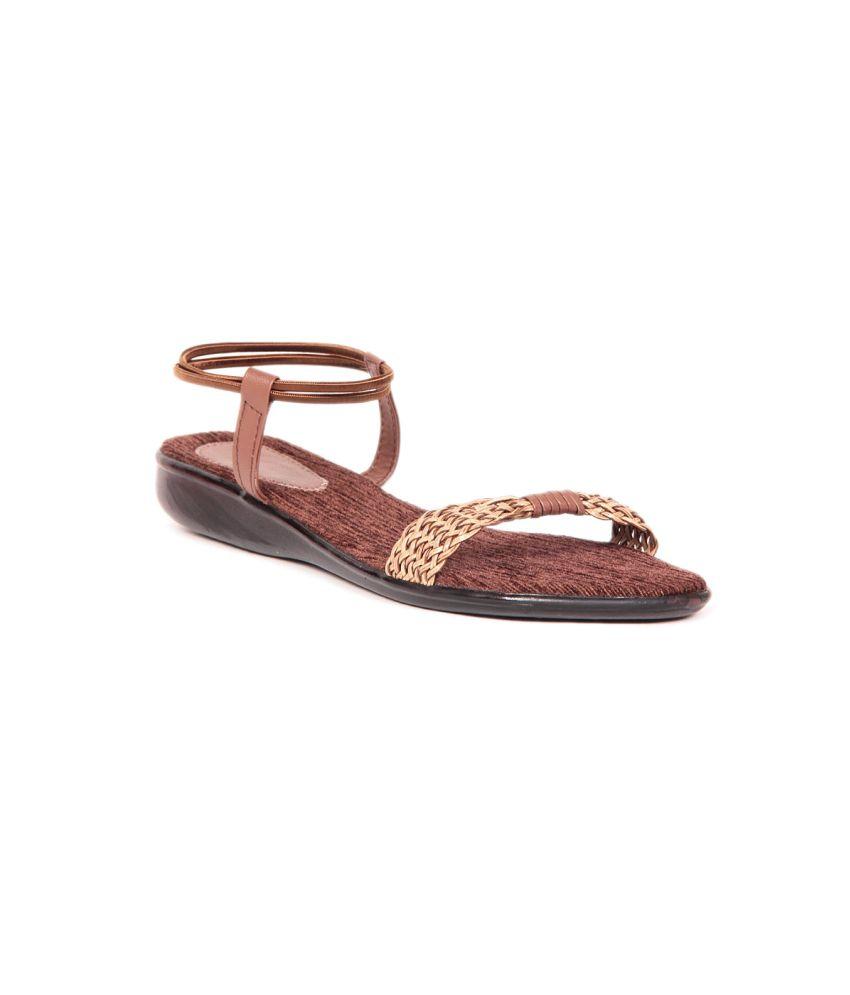 Sindhi Footwear Brown Flat