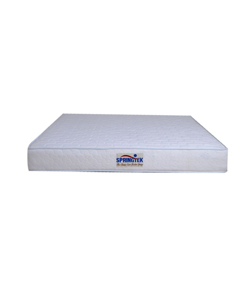 springtek king size classic care pocket spring mattress 75x72x8