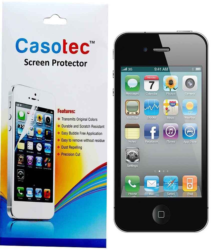 Apple Apple iphone 4 Tempered Glass Screen Guard by Casotec