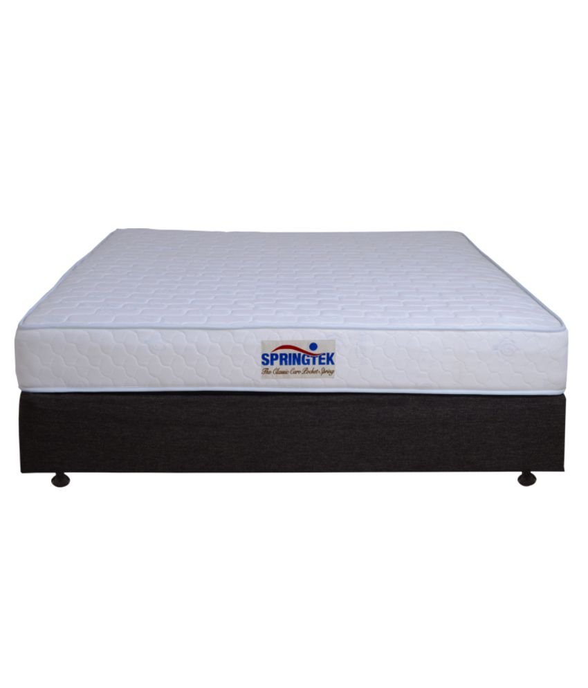 springtek classic care bonnel spring mattress white buy springtek