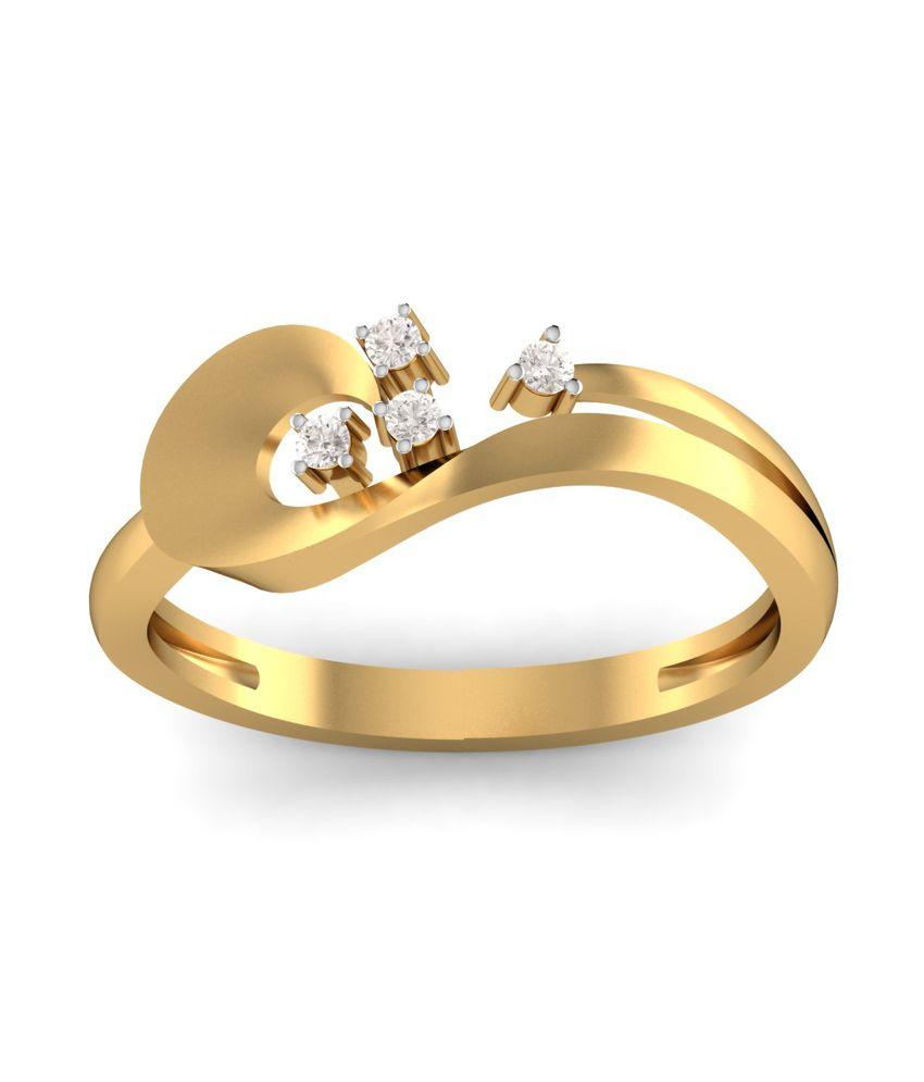 Kuberbox 14k Gold Diamond Grace Personified Ring