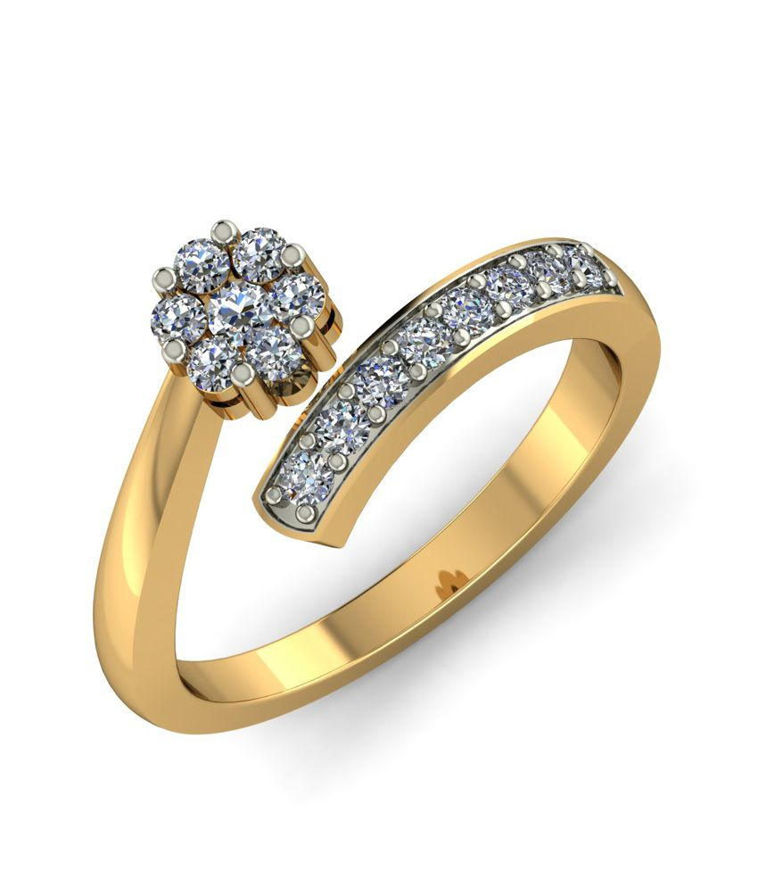 Kuberbox 14k Gold Diamond Lilt Ring