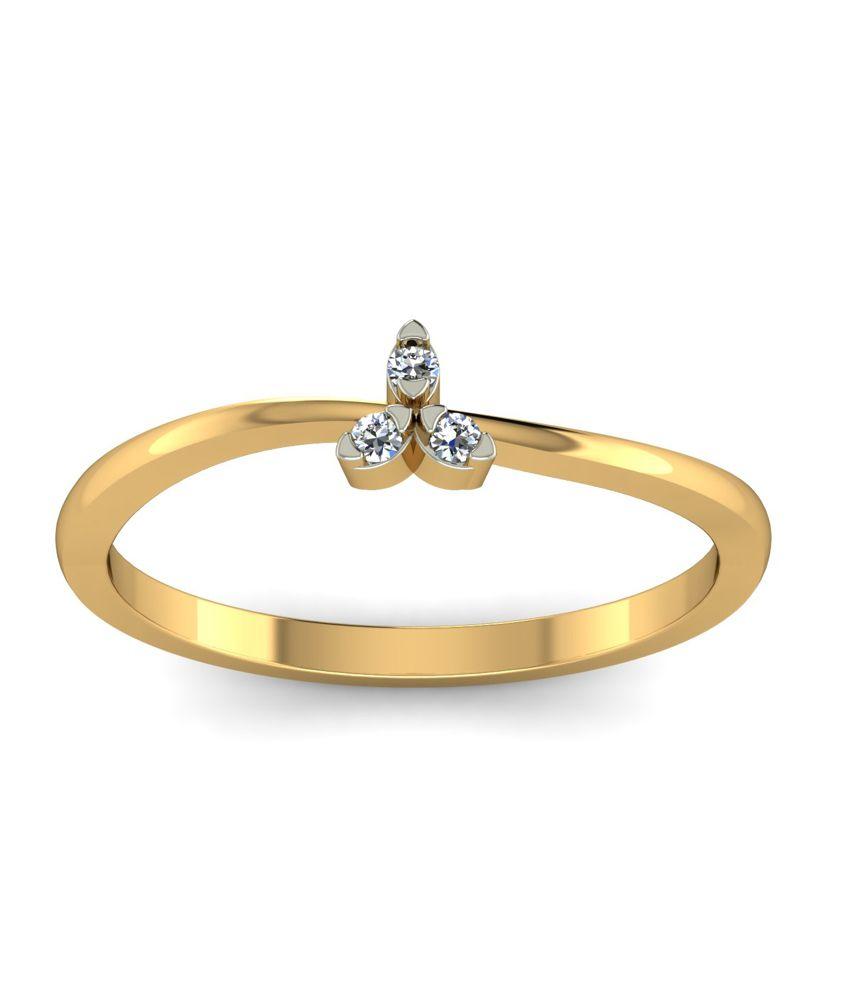 Kuberbox 14k Gold Diamond Temptations Ring