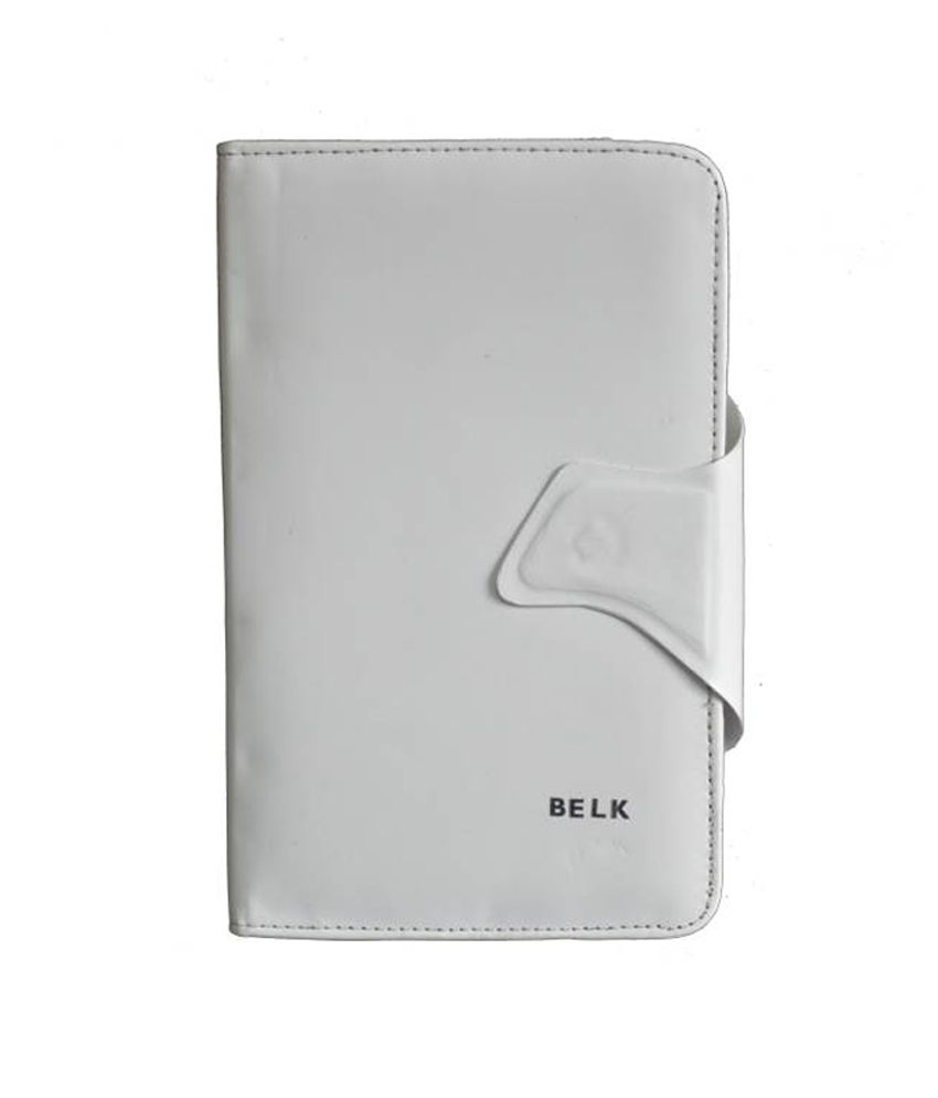 Tup Belk Flip Cover For Bsnl Penta Is703c Tpad 7 Inch Tablet - White