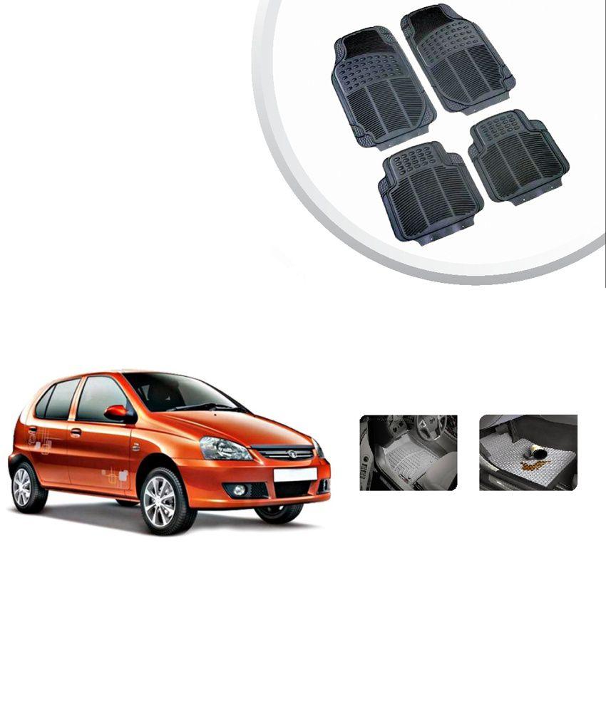 Grey Car Foot Mats For Toyota Etios Liva Buy: AutoSun Tata Indica High Quality Rubber Floor Mats -Black