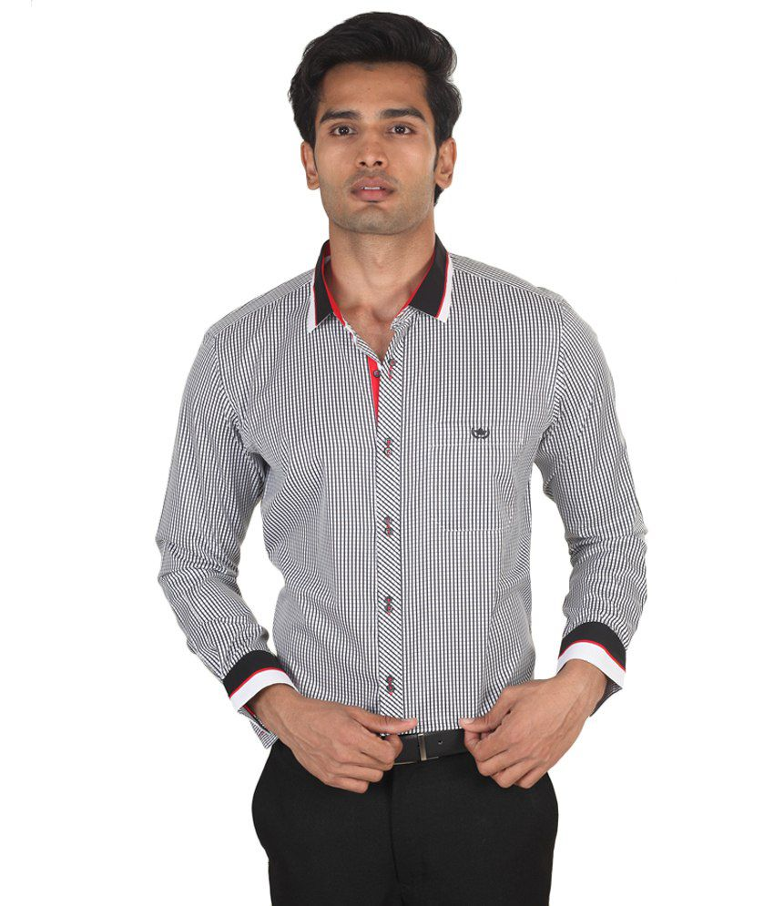 Lsd Casuals Black 100 Percent Cotton Regular Checks Men Shirt