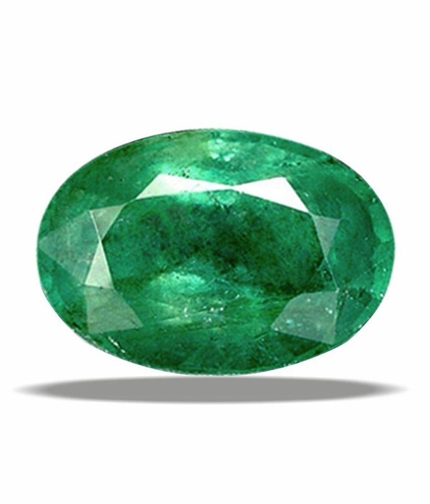 9 Astro Gems & Jewels Certified Gemstone Natural Emerald (panna) Of 6.34 Ratti / 5.76 Carat, Standard Category